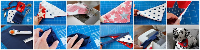 DIY reversible dog bandana, step-by-step how to make