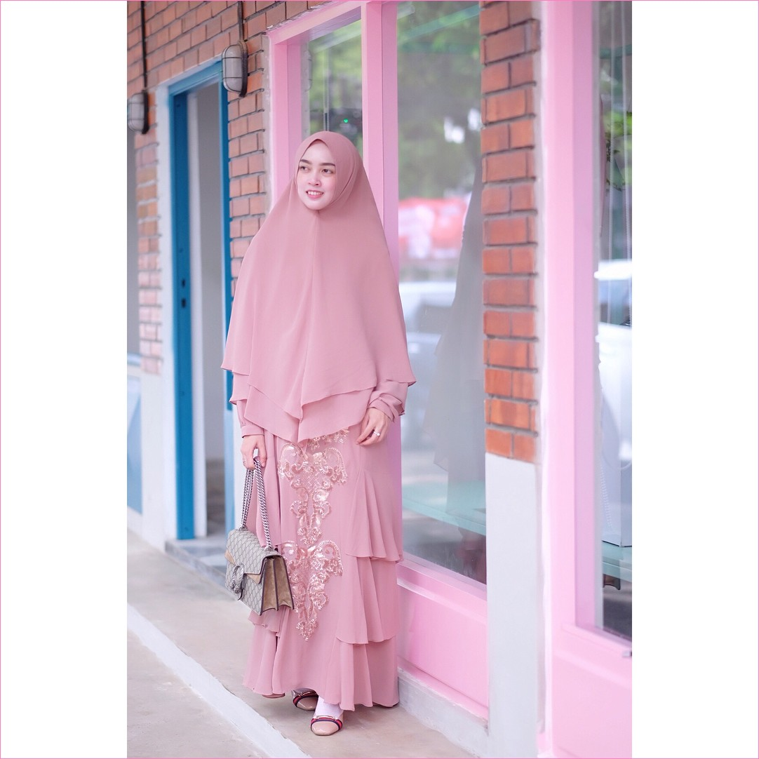 Image result for fashion hijab gamis pastel