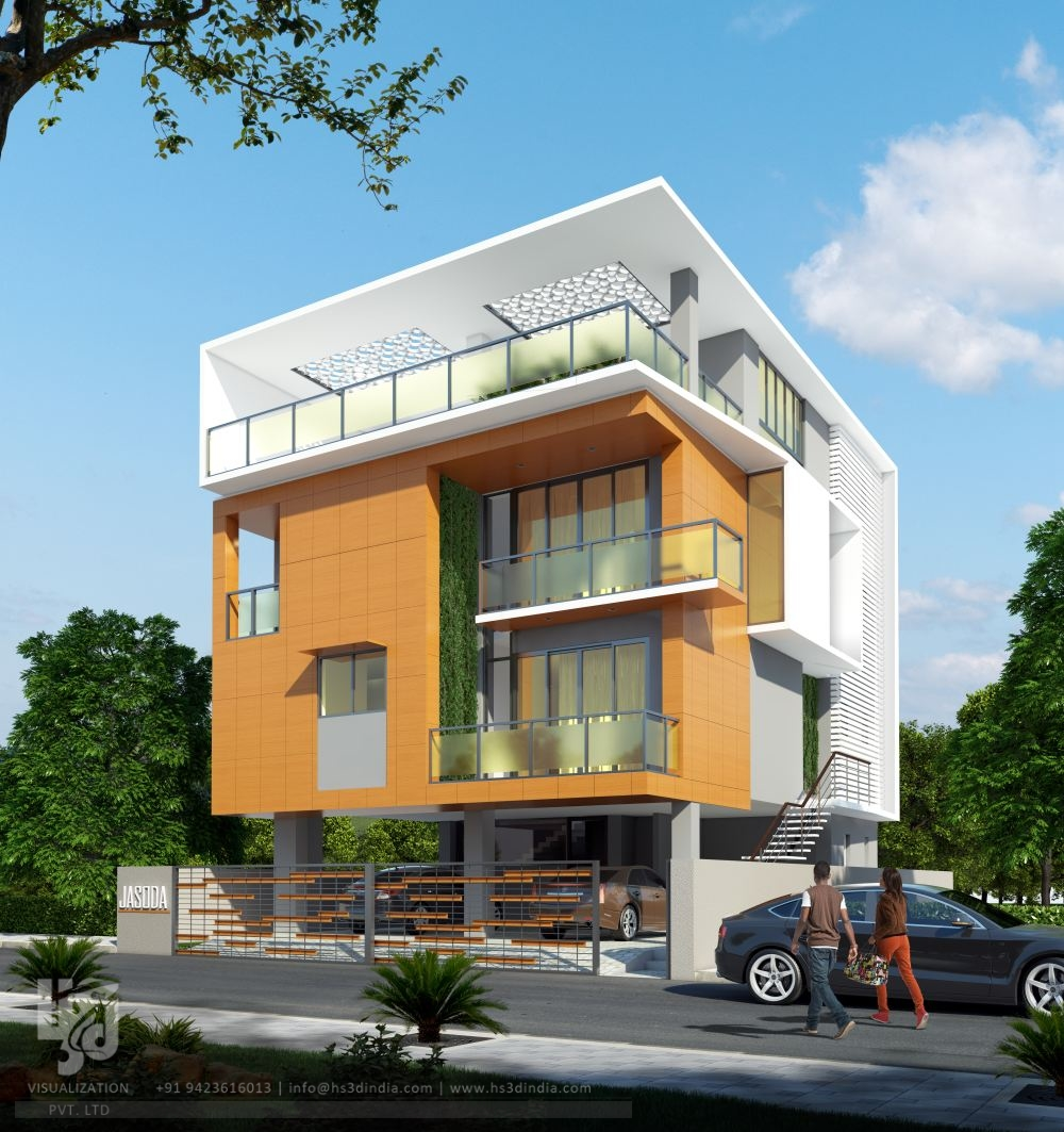 3d Architectural Visualization 3d Exterior Design Day