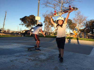 skateboarding session stoked