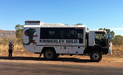 Kimberley Wild tour bus on the road
