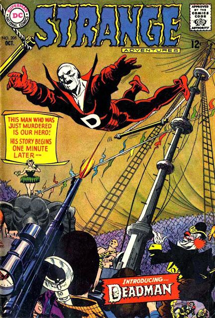 Strange Adventures v1 #205, 1967 dc bronze age comic book cover - 1st  Deadman