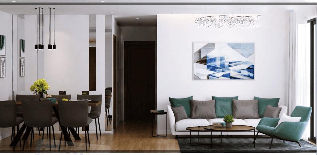 Phòng khách căn hộ cao cấp Xuân Mai Tower Thanh Hoá