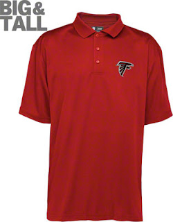 Big and Tall Atlanta Falcons Red Polo Shirt