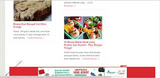 Iklan Indosat Nampang di Website seseorang tanpa ijin