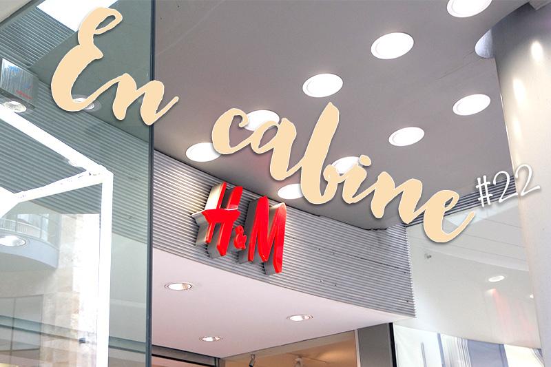 En cabine, essayages chez H&M , février 2016