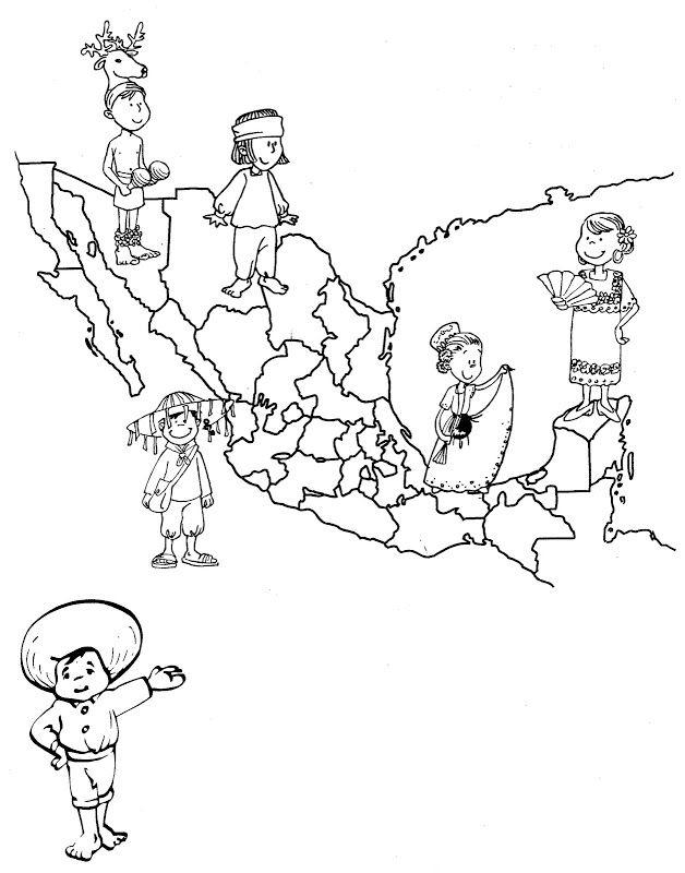 Dibujos Para Colorear De México Blog De Imágenes