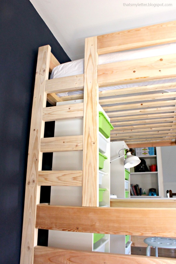 loft bed ladder built in