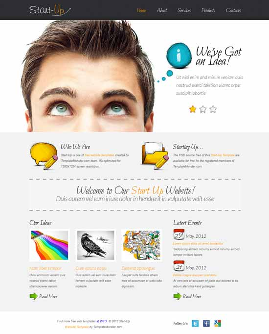 Best business consulting website templates free premium 2016 startup free consulting website template pronofoot35fo Gallery