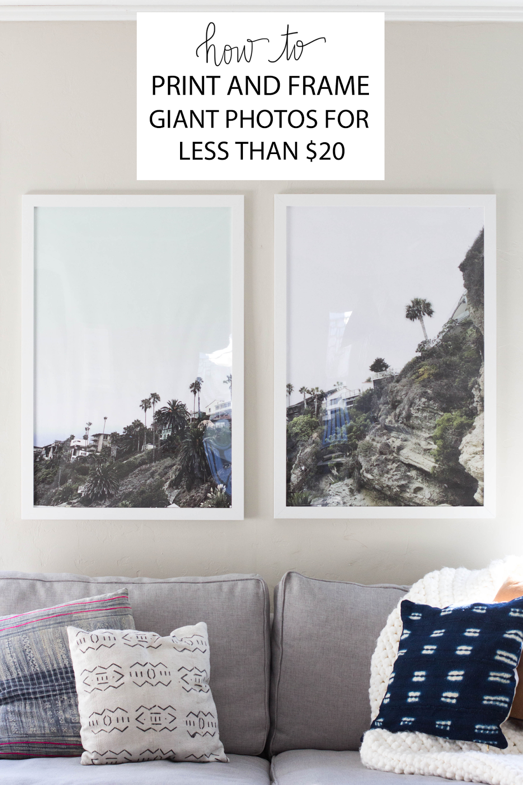 always rooney: How To Print and Frame Giant Photos For Less Than $20