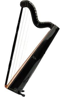 Foto de un arpa color negro