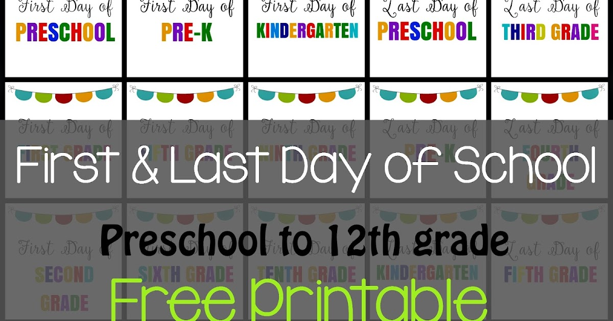 This is a picture of Gutsy Last Day of Preschool Printable