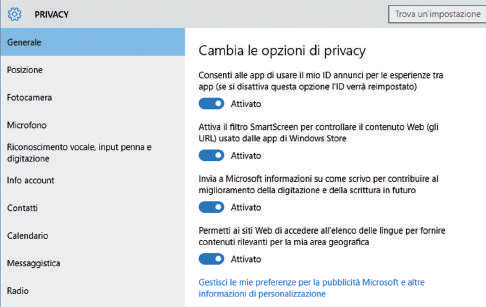 Come difendere la privacy in Windows 10