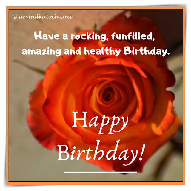 Happy Birthday, Card, Rose,  rocking, fun filled, amazing, birthday,