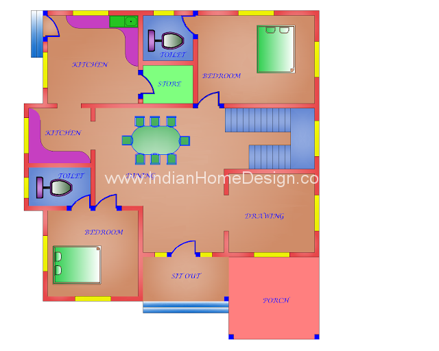 Indian model house images house best design for South indian model house plan
