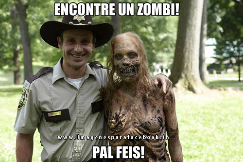 Encontre un zombi pal feis!