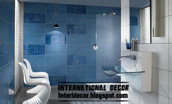 Blue Wall Tile Color Design For Bathroom 2015