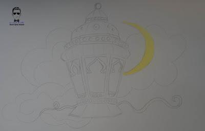 تعلم رسم فانوس رمضان