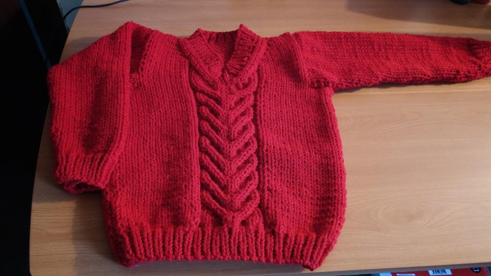 Curso de tejido a mano pullover escote v para ni o - Labores punto dos agujas ...