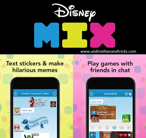 Disney Mix - A messaging app that's safe for kids