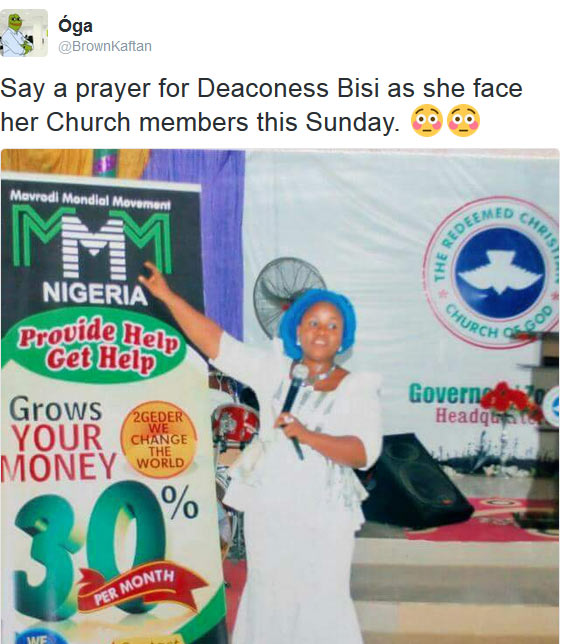 Remember the female evangelist preaching MMM to RCCG church members?