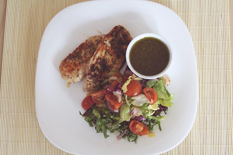obiad, grillowany kurczak, dieta, fit