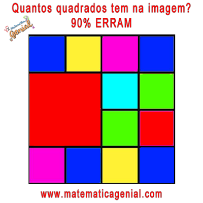Quantos quadrados tem na figura? 90% erram