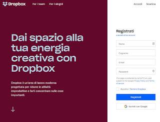 Sito Dropbox
