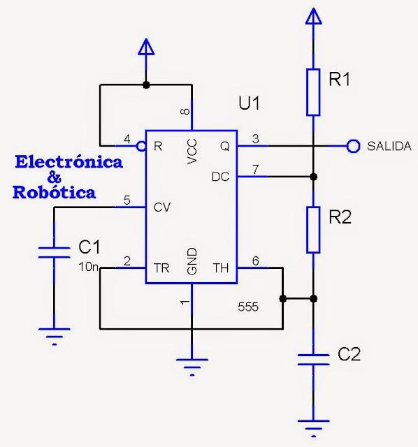 Circuito Monoestable 555 : Circuito integrado multivibrador monoestable y astable