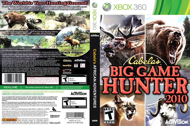 RGH360LTU: XBOX 360 CABELA´S BIG GAME HUNTER 10