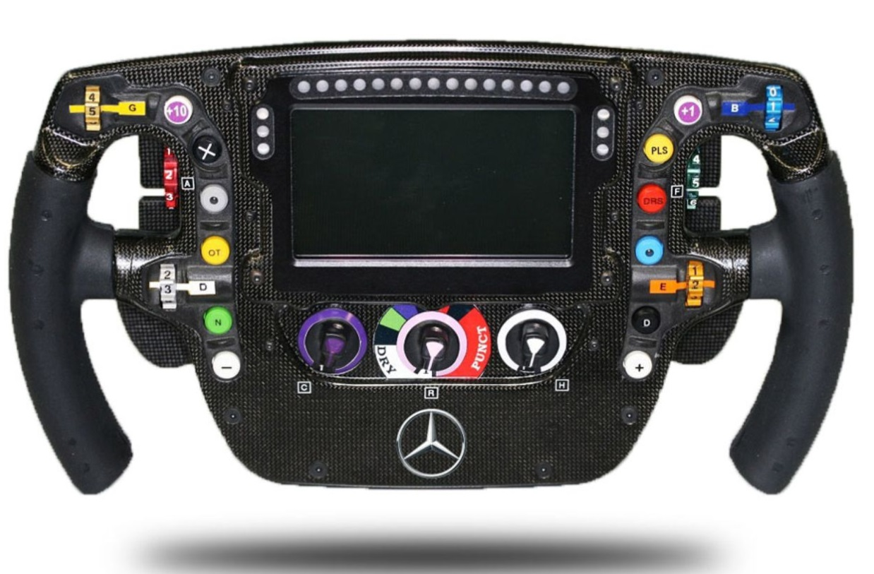 f1 steering wheel cost is $50,000