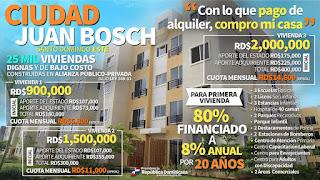 """Infografía: """"Con lo que pago del alquiler, compro mi casa en Ciudad Juan Bosch"""""""
