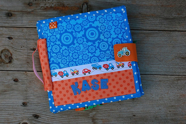 Quiet book for Kase handmade fabric book for a boy by TomToy