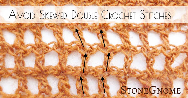 Avoid Skewed Double Crochet Stitches