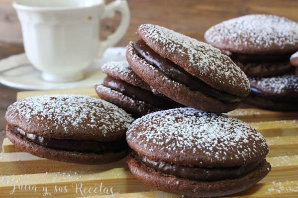 Whoopies de chocolate. Julia y sus recetas