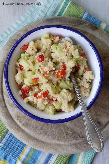 Experimente aus meiner Küche: Couscous-Salat mit gegrillter Paprika