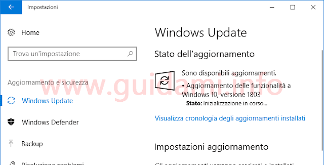 Windows Update di Windows 10