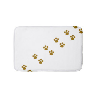 Animal paw bath mat