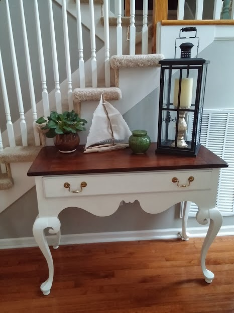 painted entry table