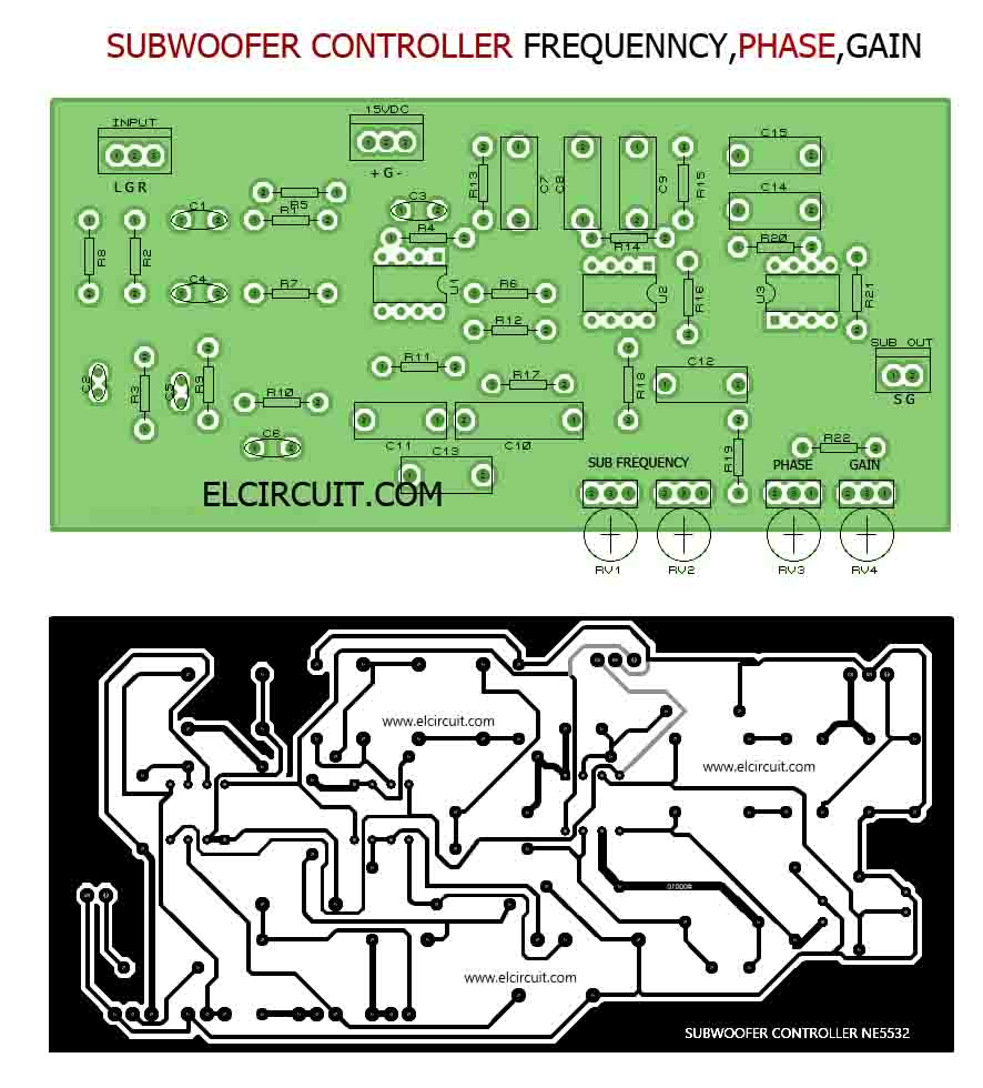 Subwoofer Controller Frequency Phase Gain Electronic Circuit Active Crossover Design Pcb Layout