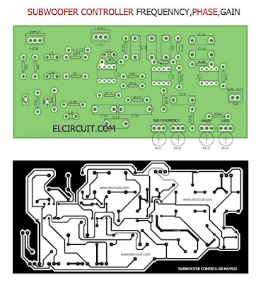 PCB Layout Design Subwoofer Controller