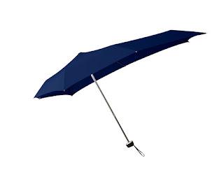 Neuf Senz Élégant Évasé Élégant S - Bleu Profond Parapluie Pliant