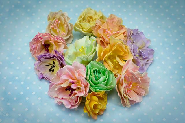 Kwiatki z foamiranu