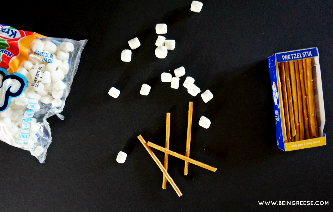 Learn how to engineer using pretzels and marshmallows
