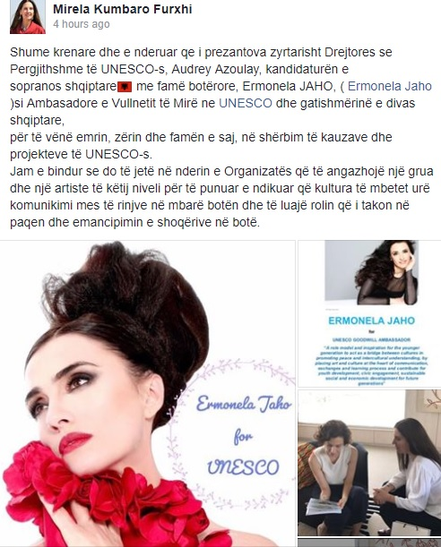 Ermonela Jaho nominated as the Albania's Ambassador of the Goodwill in UNESCO