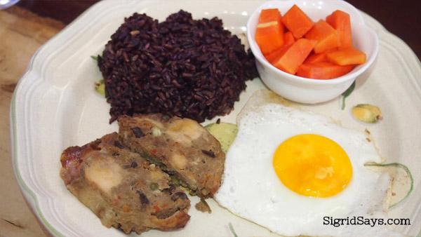Merkado organic restaurant chicken galantina