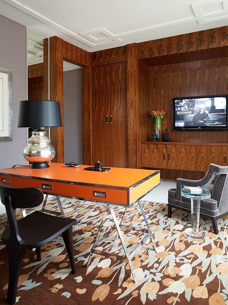 25 Desain Interior Cat Rumah Warna Orange - Desain Rumah