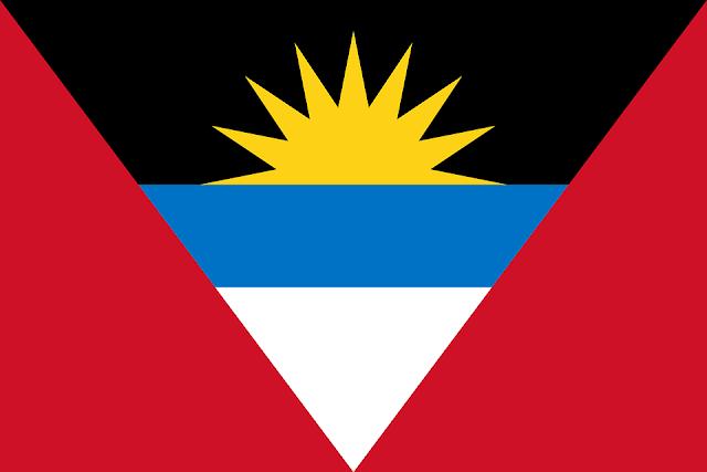 Bandera de Antigua y Barbuda.