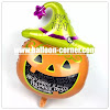 Balon Foil Halloween Pumpkin Head