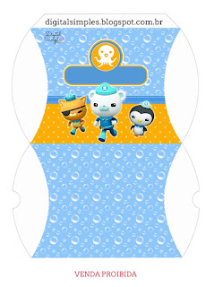 The Octonauts Free Printable Pillow Box,